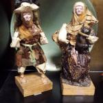 "Vintage Paper Mache Man & Women.  Very detailed.  Each measures 10"" high.  Pre-owned & in excellent condition, man has issues on his face.  $35.00 for Woman & $25.00 for Man obo"