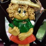 Handmade Dough Lady Golfer Ornament.  Adorable.  Pre-owned & in excellent condition.  $15.00 obo