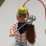 Hand Painted Wood Golfer Ornament.  Adorable.  Pre-owned & in excellent condition.  $12.00 obo