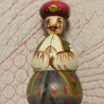 Hand Painted Wood Oriental Man Ornament.  Very detailed.  Pre-owned & in excellent condition.  $15.00 obo