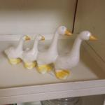 Small Ceramic Geese.  Adorable.  Pre-owned & in excellent condition.  $15.00 obo