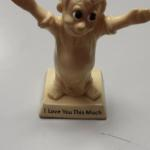 I Love You This Much Statute.  Adorable.  Made of plastic.  Pre-owned & in excellent condition.  $15.00 obo