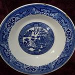 "Vintage Blue Willow by Royal 9"" Bowl.  Pre-owned & in good condition, a few small chips in rim.  $5.00 obo"