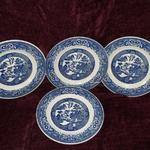 "Vintage Willow Ware by Royal China 9"" Plates - Lot of 4.  Pre-owned & in good condition, small chip in rim.  $5.00 each or $18.00 for Lot of 4 obo."