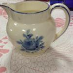 Vintage Czechoslovakia Porcelain Pitcher.  Has #9484 on bottom.  Pre-owned & in good condition, handle has 2 breaks.  $15.00 obo
