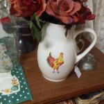 Vintage World Market Ceramic Pitcher.  Made in Portugal.  Adorable with Rooster on front.  Pre-owned & in excellent condition.  $15.00 obo