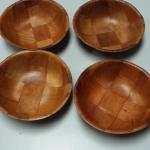 Small Vintage Round Wood Bowls.  Four available.  Pre-owned & in excellent condition.  $2.00 each obo