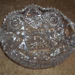 Vintage Cut Glass Serving Dish.  Beautifully cut with no chips or cracks. Pre-owned & in excellent condition.  $25.00 obo