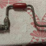 Vintage Hand Drill with Red Bakelite Handles.  Pre-owned & in great condition.  $19.95 obo