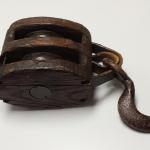 Antique Wood Pulley for Block & Tackle.  This Pulley has a metal roller and hook.  Pre-owned & in excellent condition.  $50.00 obo