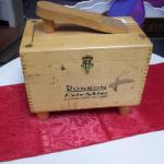 "Vintage Ronson Roto Shine Electric Shoe Polisher.  Great vintage piece.  Wood box is filled with all the accessories to polish shoes.  Measures 10.5l"" x 6.5""w x 8.5""h.  Pre-owned & in excellent condition.  $45.00 obo"