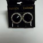 Vintage Black Onyx with Cubic Zirconia Clip-on Earrings.  Gorgeous.  Pre-owned & in excellent condition.  $18.00 obo