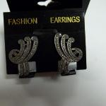 Vintage Sterling Silver with Merkizite Screw back Earrings.  Gorgeous.  Pre-owned & in excellent condition.  $32.00 obo