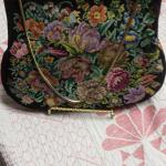 Vintage Petit-Point Handbag.  Real embroidered work.  Signed by Artist.  Pre-owned & in excellent condition.  $75.00 obo