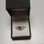 Thin Mexican Silver with Black Onyx Ring.  Beautiful.  Size 10.  Pre-owned & in excellent condition.  $18.00 obo