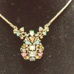 "Vintage Hollycraft Multi-color Pastel Rhinestone Necklace.  Absolute gorgeous piece.  Also has 2 colored rhinestones by clasp.  Measures 16"".  Pre-owned & in excellent condition.  $125.00 obo"