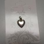 Sterling Silver Solid Heart Pendant.  Adorable.  Pre-owned & in excellent condition.  $17.00 obo