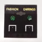 Jade Carved Flower Post Earrings.  Adorable.  Pre-owned & excellent condition.  $18.00 obo