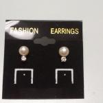 Pearl with Diamond Post Earrings.  Stunning.  Pre-owned & in excellent condition.  $25.00 obo