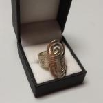 Sterling Silver 6 Strand Swirl Ring.  Gorgeous.  Size 10.  Pre-owned & in excellent condition.  $47.00 obo