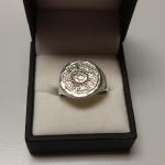 Sterling Silver Medallion Ring.  Beautiful piece.  Size 8.5.  Pre-owned & in excellent condition.  $47.00 obo