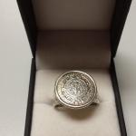 Sterling Silver 2 Strand Medallion Ring.  Great piece.  Size 9.  Pre-owned & in excellent condition.  $37.00 obo