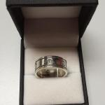Thick Sterling Silver Band with Screw Design.  Cool Ring.  Size 9.  Pre-owned & in excellent condition.  $43.00 obo