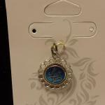 Sterling Silver with Blue Enamel Pendant.  Gorgeous with I Love You.  Pre-owned & in excellent condition.  $19.00 obo