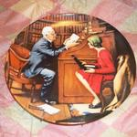Norman Rockwell - Collector Plates.  Heritage Collection Series:  The Professor.  Comes with COA and Brocchure.  We are asking $20.00 obo