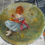 John McClelland - Collector Plate.  Plate 3 in Mother Goose Series:  Little Miss Muffet 1981.  Comes with COA and Brochure.  We are asking $15.00 obo