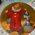 John McClelland - Collector Plate.  Plate 1 in Children's Circus Collector Series:  Tommy the Clown.  Comes with COA and Brochure.  We are asking $15.00 obo