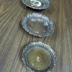 "International Mercantile Brass Decorative Candleholders - Set of 3.  They measures 6.5"", 5.75"", and 4.75"" in diameter.  Pre-owned & in great condition.  $25.00 obo for the Set of 3"