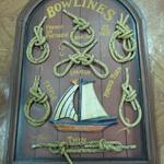 "Bowlines Knot Board.  Shows examples of French & Spanish knots, as well as Twin & Triple knots.  Great piece of décor.  Measures 15.75""l x .75""w x 23.5""h.  Pre-owned & in excellent condition.  $40.00 obo"
