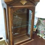 "Vintage Wood Shelf Display Cabinet.  Made by Cornwell and has a great shell motif.  Measures 20""l x 8""w x 29.5""h.  Pre-owned & in great condition.  $85.00 obo"