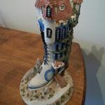 "The Shoemakers Dream - The Crocked Boot.  Gorgeous Shoe House by Jon Herbert.  Limited edition with great detail.  Measure approximately 4.5"" diameter x 9.5""h.  Pre-owned & in excellent condition.  $25.00 obo"