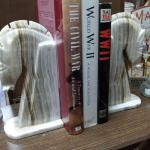 "Marble Horse Head Bookends.  These Bookends are gorgeous and have great detail.  Each measures 3.5"" x 5.5"" x 11"".  Pre-owned & in excellent condition.  $50.00 obo"