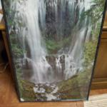 "Framed Waterfall Poster.  This Poster has a great marble looking plastic frame with plexiglass cover.  Measures 24.5"" x 36.5"".  Pre-owned & in great condition.  $15.00 obo"