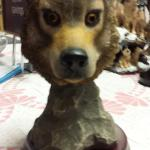 "Wolf Head Statute on Cherrywood Base.  This is from the Reverie Collection.  Measures 6""w x 10""h.  Pre-owned & in excellent condition.  $32.00 obo"