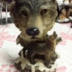 "Resin Wolf Head with Wolf.  Measures 5""w x 8""h.  Pre-owned & in excellent condition.  $25.00 obo"