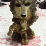 "Small Resin Wolf with 2 Babies.  Measures 3.5""w x 6.5""h.  Pre-owned & in excellent condition.  $23.00 obo"