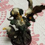 "Resin Eagle with Babies.  Measures 4""w x 8""h.  Pre-owned & in excellent condition.  $23.00 obo"