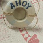 "Ahoy Picture Frame.  Cute piece.  Measures 6.5"" high.  Pre-owned & in excellent condition.  $20.00 obo"