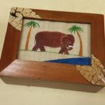 Anthony Page Wood Box with Elephant.  Beautiful artwork.  Pre-owned & in excellent condition.  $21.00 obo