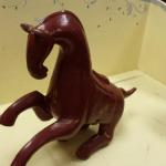 Hand Carved and Painted Wood Horse.  Very well made.  Pre-owned & in excellent condition.  $35.00 obo