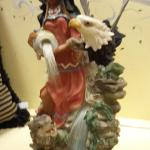 "Ray Chia Collection Indian Maiden Fiberoptic Light.  Gorgeous piece.  Measures 16"" high.  Pre-owned & in great condition.  $35.00 obo"