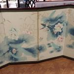 "Oriental Painted Silk Screen.  Absolutely beautiful piece.  Four panels that measure 17.5"" each connected.  Total measurements 70""l x 35""h.  Pre-owned & in excellent condition.  $99.00 obo"