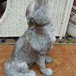 "Large Ceramic Howling Coyote.  Beautiful piece.  Measures 12"" x 20""h.  Pre-owned & in excellent condition.  $50.00 obo"