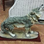 Precious Collection Resin Howling Coyote.  Great piece with wood base.  Measures 17 x 5 x 15.  Pre-owned & in excellent condition.  $30.00 obo