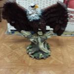 King of the Skies Bald Eagle Resin Statute.  Gorgeous and bold.  Measures 18 x 19.  Pre-owned & in excellent condition.  $70.00 obo