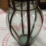 "Glass & Iron Candleholder.  Great item.  Measures 11"" high.  Pre-owned & in excellent condition.  $18.00 obo"